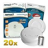 20x Nemaxx WL10 Funkrauchmelder - mit 10 Jahre...